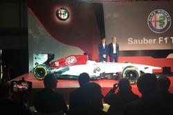 Sauber Alfa Romeo con i piloti 2018 Leclerc ed Ericcson