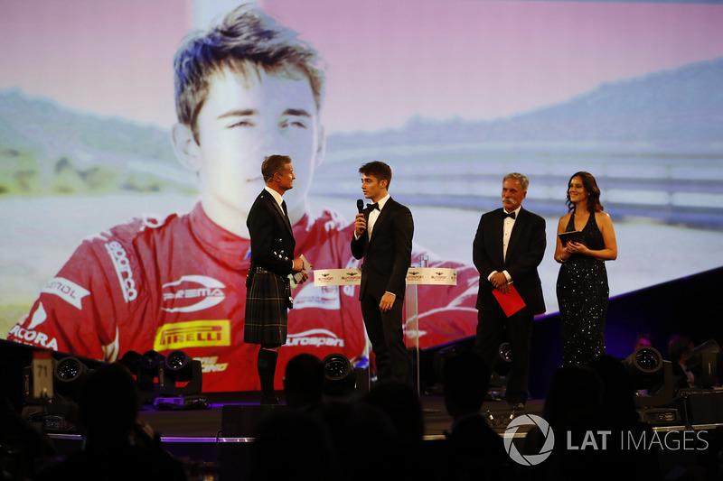 Charles Leclerc ganó el reconocimiento a debutante del año