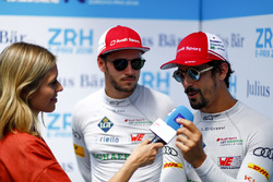 Nicki Shields, TV Presenter, interviews Lucas di Grassi, Audi Sport ABT Schaeffler, Daniel Abt, Audi