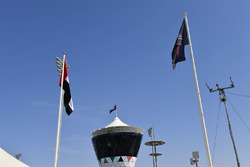 Shams Tower and flags