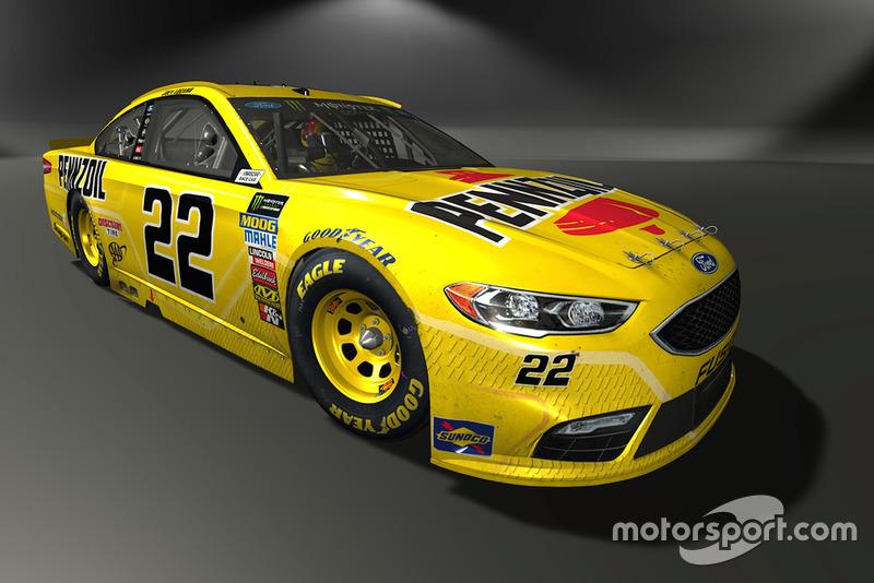 Joey Logano, Team Penske, Ford Fusion - NASCAR Heat 3 skin