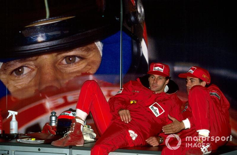 Gerhard Berger, Ferrari and Jean Alesi, Ferrari