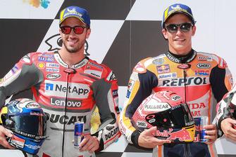 Ganador de la pole Marc Marquez, Repsol Honda Team, segundo Andrea Dovizioso, Ducati Team