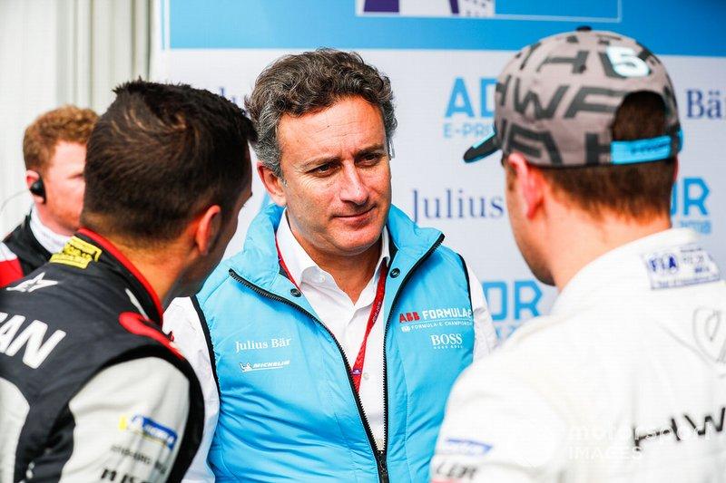 Alejandro Agag, CEO, Formula E, Sébastien Buemi, Nissan e.Dams, Stoffel Vandoorne, HWA Racelab