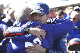 1. Maverick Viñales, Yamaha Factory Racing, mit Ramon Forcada