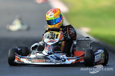 George Russell karting
