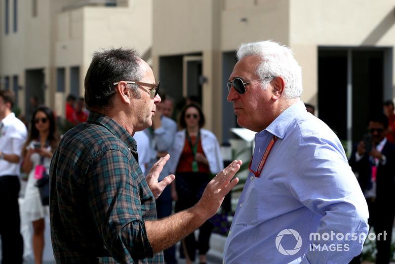 Lawrence Stroll, propriétaire de Racing Point Force India F1 Team et Gerhard Berger