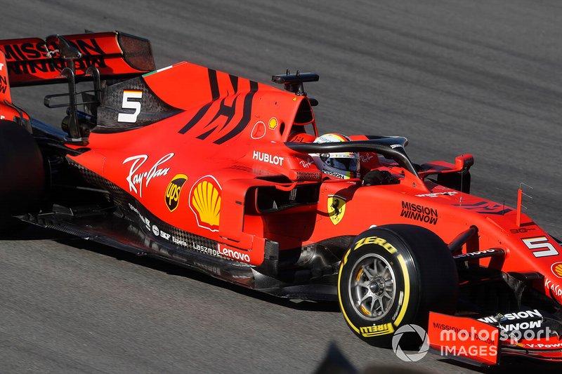 1º Sebastian Vettel, Ferrari SF90, 1:16.221 (neumáticos C5, día 8)