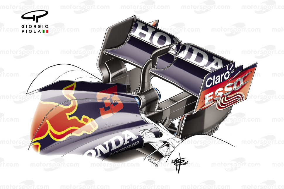 Red Bull Racing RB16B rear wing