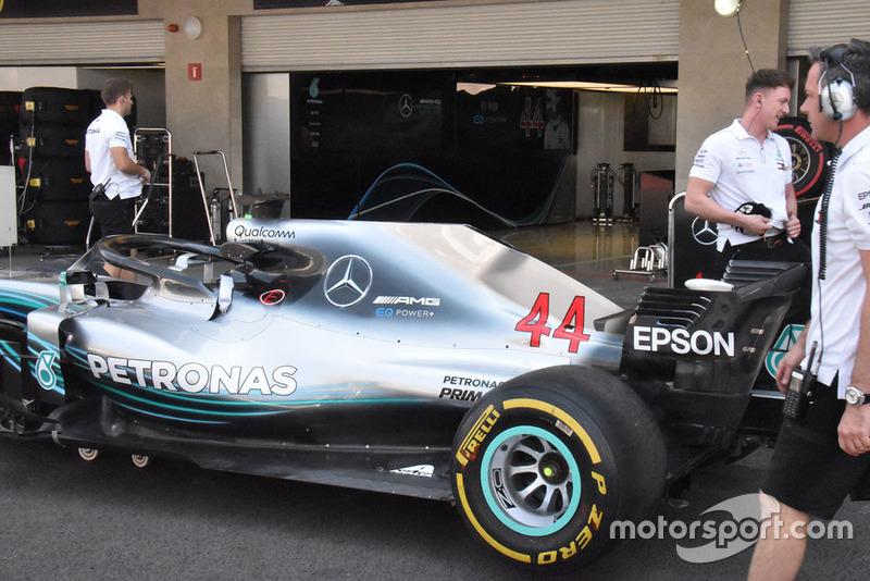 Mercedes-AMG F1 W09 side detail