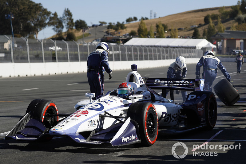 Pietro Fittipaldi, Dale Coyne Racing Honda, pit stop