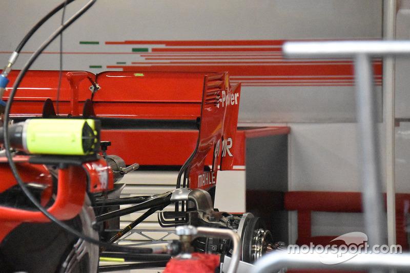 Ferrari, dettaglio della paratia dell'ala posteriore