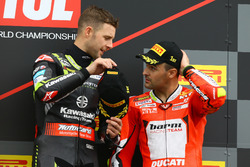 Podium : Jonathan Rea, Kawasaki Racing, Xavi Fores, Barni Racing Team