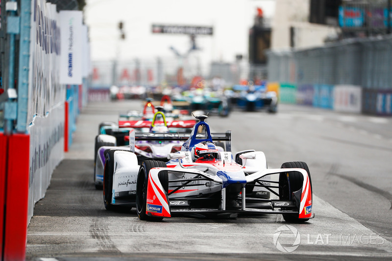 Felix Rosenqvist, Mahindra Racing, Sam Bird, DS Virgin Racing, Mitch Evans, Jaguar Racing
