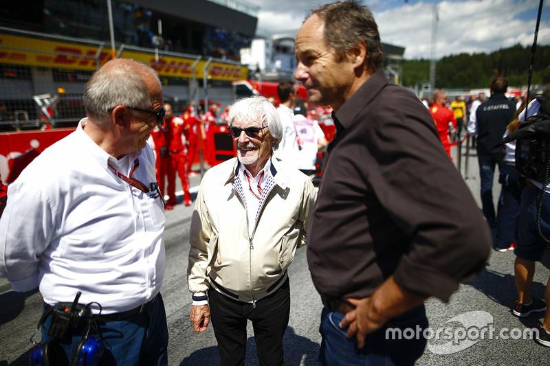 Bernie Ecclestone et Gerhard Berger