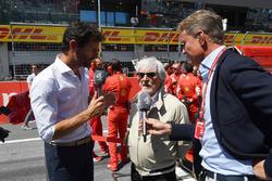 بيرني إكليستون، الرئيس الفخري للفورمولا واحد ودايفيد كولتارد ومارك ويبر