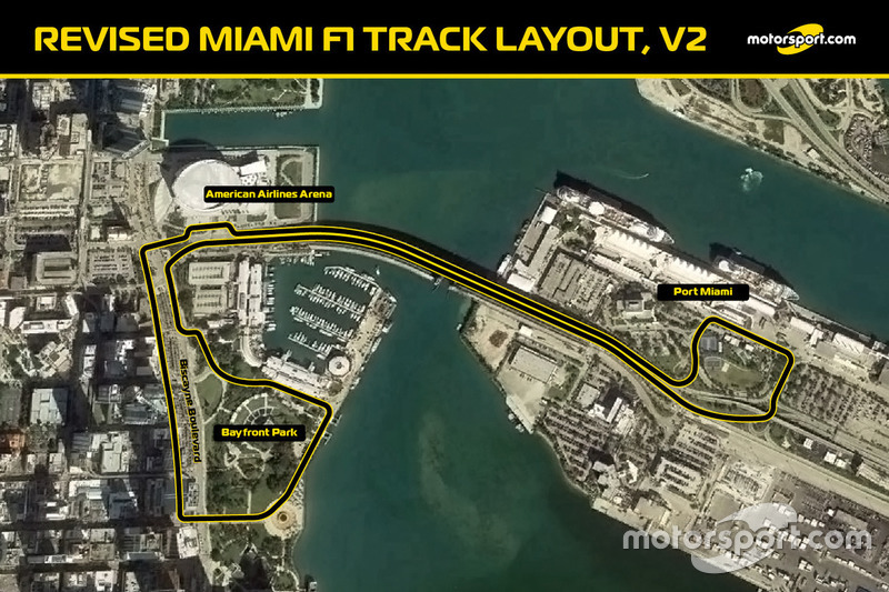 Revised Miami F1 track layout V2