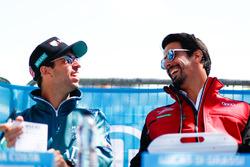 Antonio Felix da Costa, Andretti Formula E Team, con Lucas di Grassi, Audi Sport ABT Schaeffler, para la sesión de autógrafos
