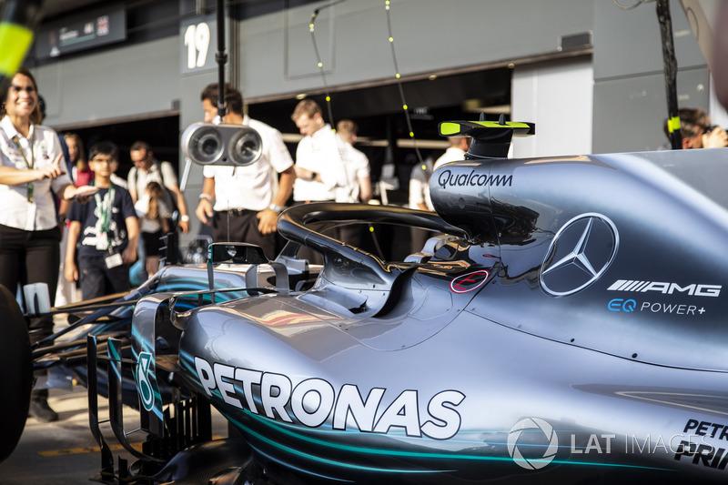 Simulation d'arrêts aux stands chez Mercedes AMG F1