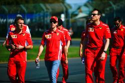 Sebastian Vettel, Ferrari pist yürüyüşü