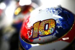 The helmet of Pierre Gasly, Toro Rosso