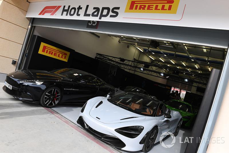 Pirelli hot lap cars