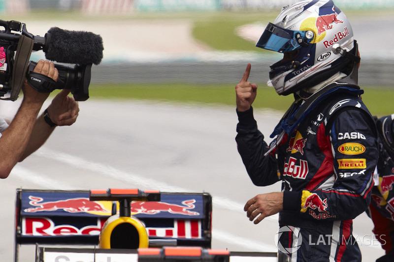 6º Sebastian Vettel - 19 carreras - De Brasil 2010 a India 2011 - Red Bull