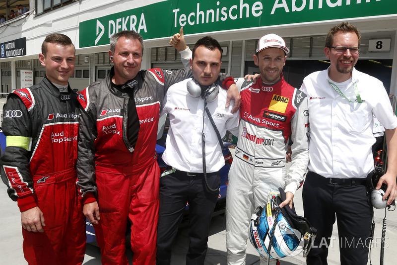 Володар поулу Рене Раст, Audi Sport Team Rosberg, Audi RS 5 DTM, з командою
