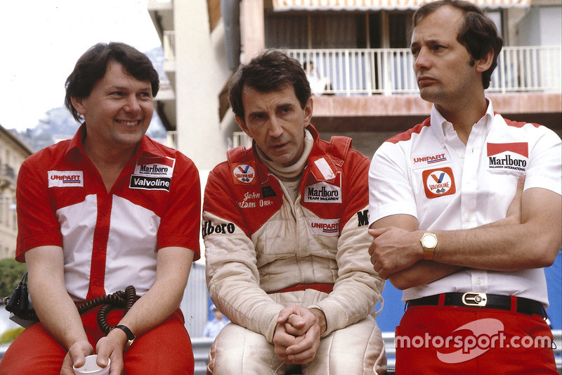 Barnard, John Watson and McLaren team boss Ron Dennis.
