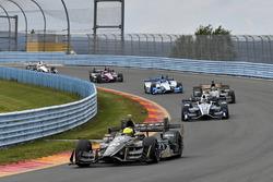 Spencer Pigot, Ed Carpenter Racing Chevrolet, Max Chilton, Chip Ganassi Racing Honda
