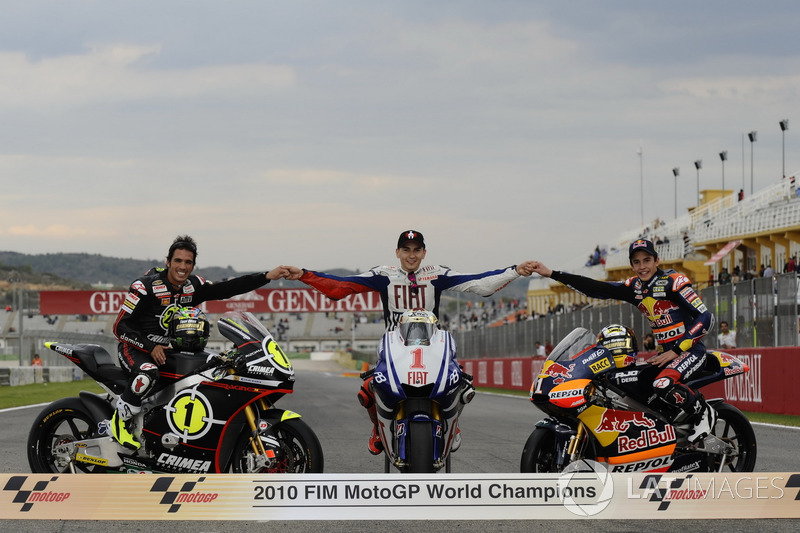 Toni Elias, Jorge Lorenzo, Yamaha, Marc Márquez Campeón del mundo 2010