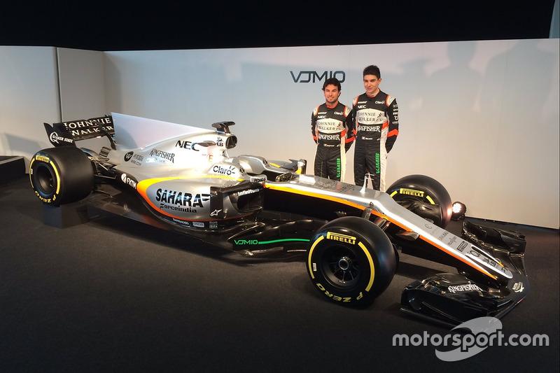 Sergio Perez, Esteban Ocon, Sahara Force India F1 VJM10