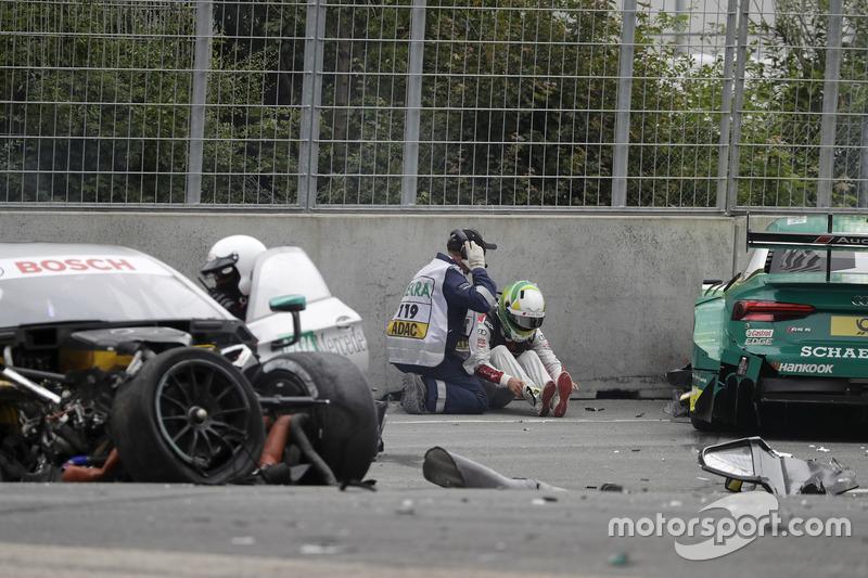 Mike Rockenfeller, Audi Sport Team Phoenix, Audi RS 5 DTM después del choque