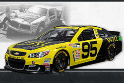 Throwback-Design: Michael McDowell, Leavine Family Racing Chevrolet