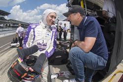 Zach Veach, A.J. Foyt Enterprises Chevrolet con su padre Roger Veach