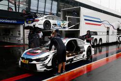 The cars of Tom Blomqvist, BMW Team RBM, BMW M4 DTM and Maxime Martin, BMW Team RBM, BMW M4 DTM