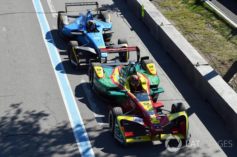 Daniel Abt, ABT Schaeffler Audi Sport,y Sébastien Buemi, Renault e.Dams, en pits