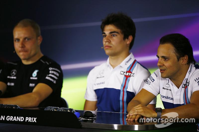 Pressekonferenz: Valtteri Bottas, Mercedes AMG F1; Lance Stroll, Williams; Felipe Massa, Williams