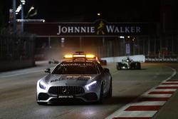 Safety Car leads Lewis Hamilton, Mercedes AMG F1 W08