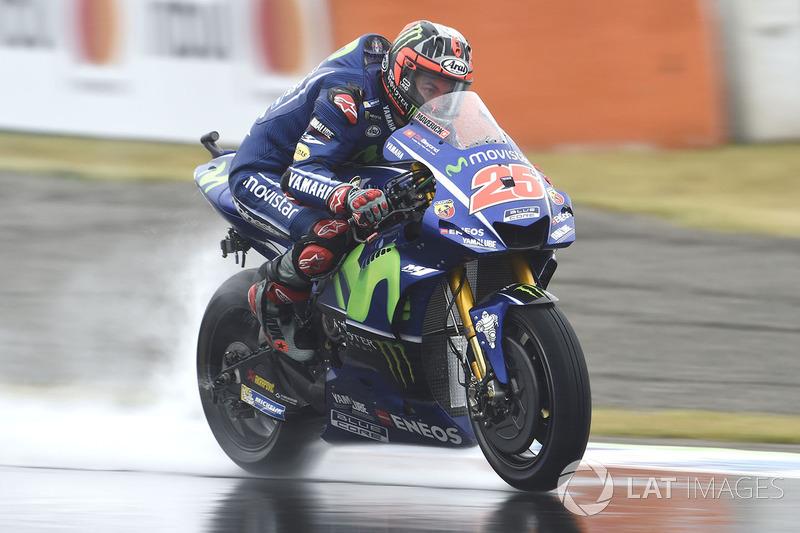 Terceiro no mundial, Maverick Viñales viveu um dia terrível com a Yamaha e sequer conseguiu passar pelo Q1. O espanhol vai alinhar apenas em 14º lugar.