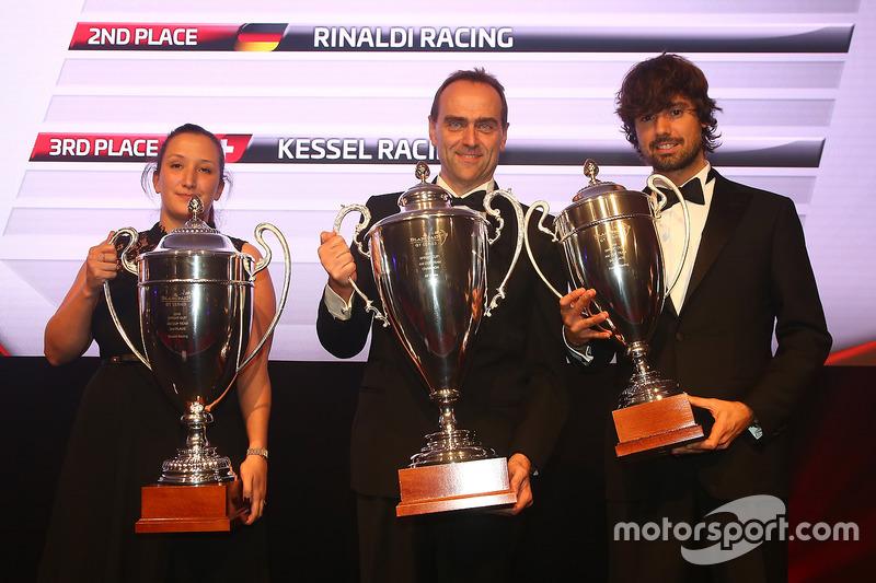 2016 Copa Sprint AM equipos, AF Corse, primer lugar, Rinaldi Racing, segundo lugar, Kessel Racing, tercer lugar