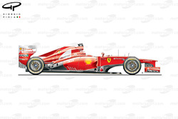 Ferrari F2012 side view