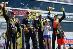 Top Fuel winner Tony Schumacher, Pro Stock winner Chris McGaha, Funny Car winner Matt Hagan, Pro Stock Bike winner Andrew Hines