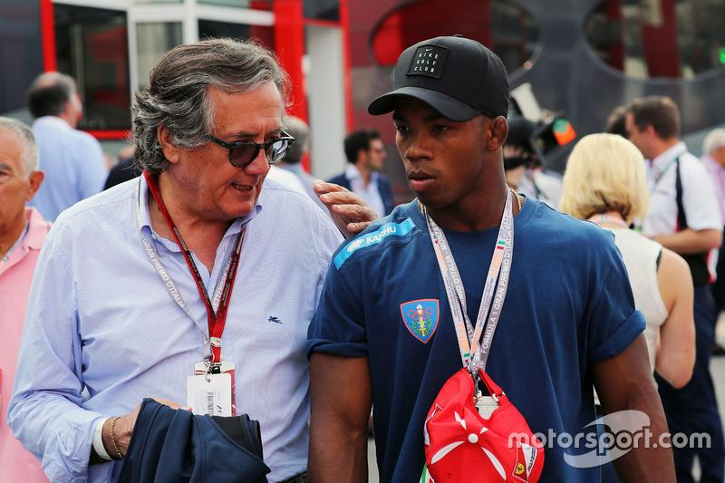 (L to R): Giancarlo Minardi, and Frank Chamizo Marquez, Wrestling bronze medaistl at Rio 2016