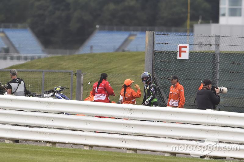 Алекс Лоус, Tech 3 Yamaha уходит с места аварии