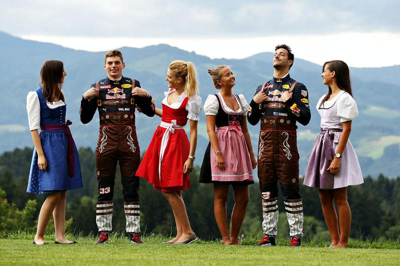 42: Гран Прі Австрії, Шпільберг. Даніель Ріккардо, Red Bull Racing, Макс Ферстаппен, Red Bull Racing та дівчата Формули 1