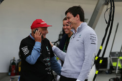 Niki Lauda, Mercedes Non-Executive Chairman with Toto Wolff, Mercedes AMG F1 Shareholder and Executive Director