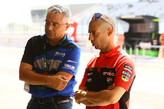 Marco Melandri, Aruba.it Racing-Ducati SBK Team, Andrea Dosoli, Yamaha race director