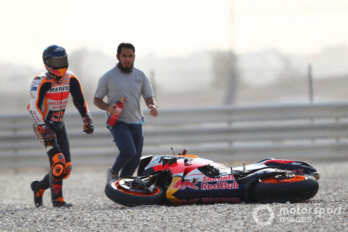 Pol Espargaro, Repsol Honda Team after crash
