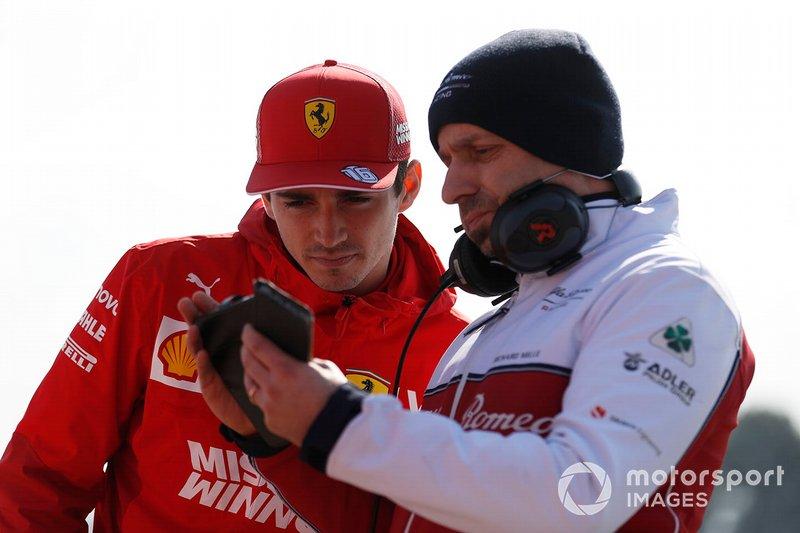 Charles Leclerc, Ferrari e Simone Resta, progettista Alfa Romeo Racing